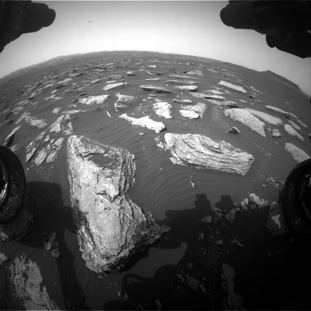 Nasa's Mars rover Curiosity acquired this image using its Front Hazard Avoidance Camera (Front Hazcam) on Sol 1633, at drive 1908, site number 61