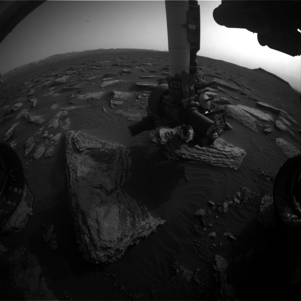 Nasa's Mars rover Curiosity acquired this image using its Front Hazard Avoidance Camera (Front Hazcam) on Sol 1634, at drive 1908, site number 61