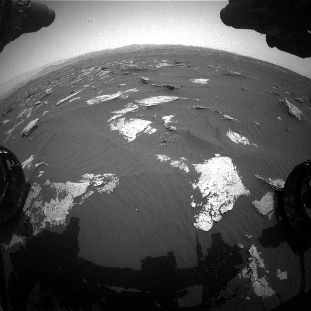 Nasa's Mars rover Curiosity acquired this image using its Front Hazard Avoidance Camera (Front Hazcam) on Sol 1635, at drive 2148, site number 61