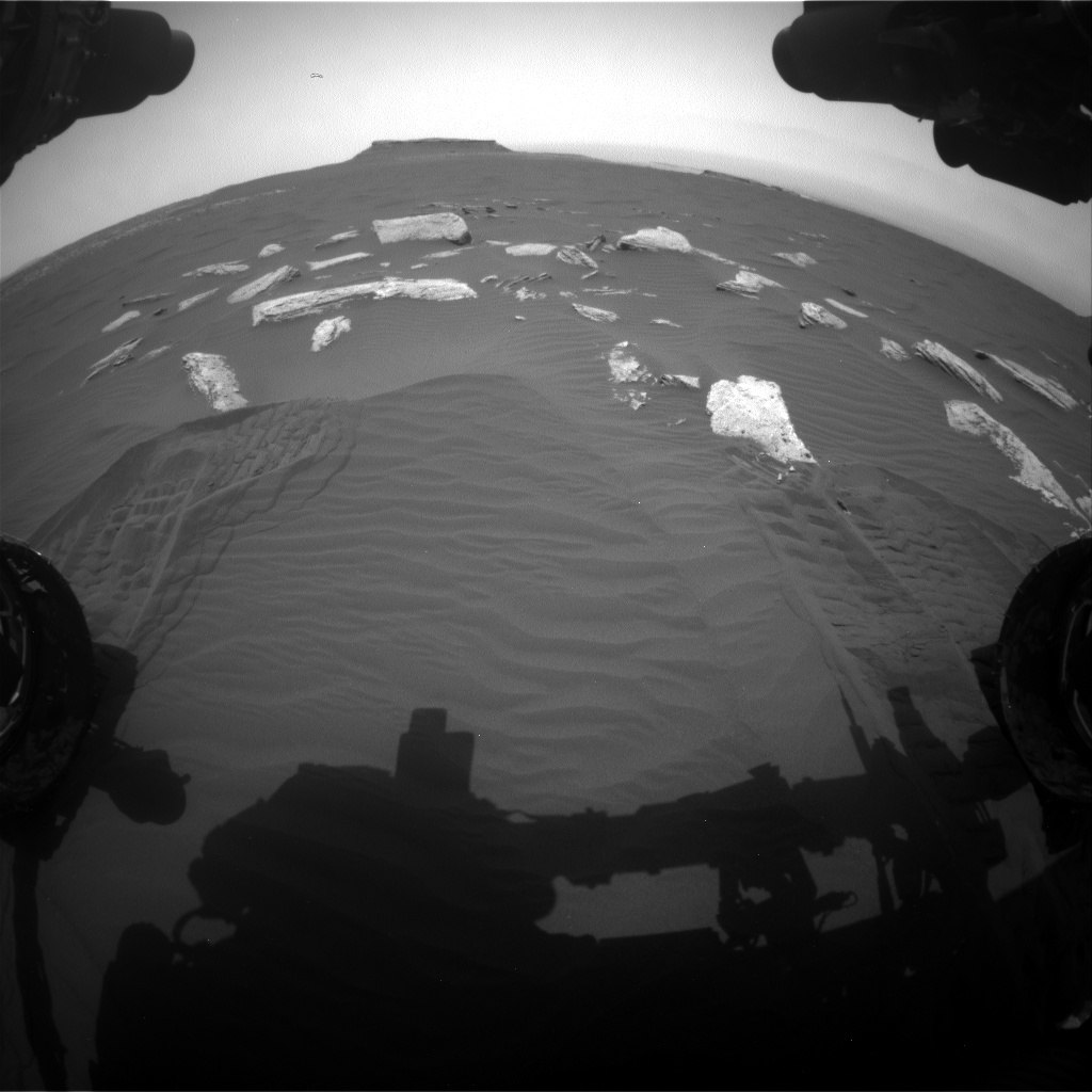 Nasa's Mars rover Curiosity acquired this image using its Front Hazard Avoidance Camera (Front Hazcam) on Sol 1636, at drive 2232, site number 61