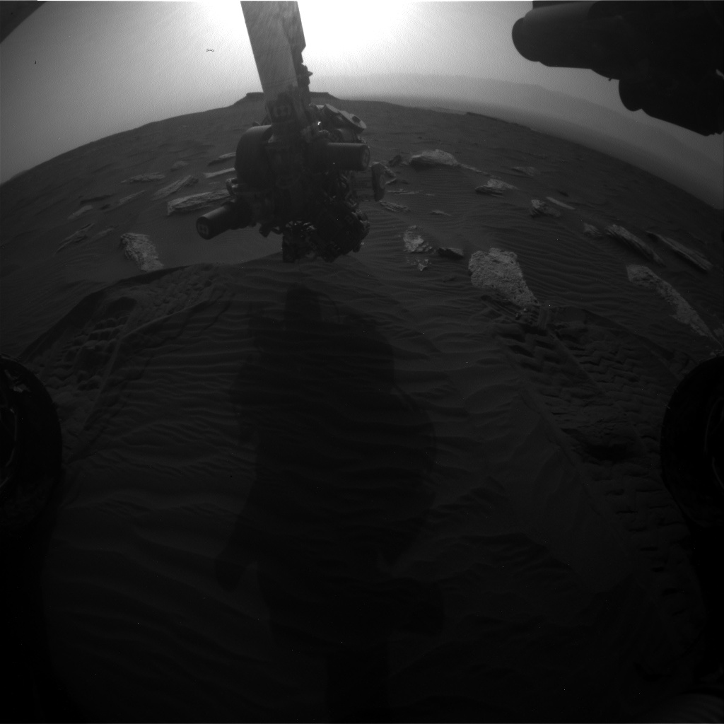 Nasa's Mars rover Curiosity acquired this image using its Front Hazard Avoidance Camera (Front Hazcam) on Sol 1637, at drive 2232, site number 61