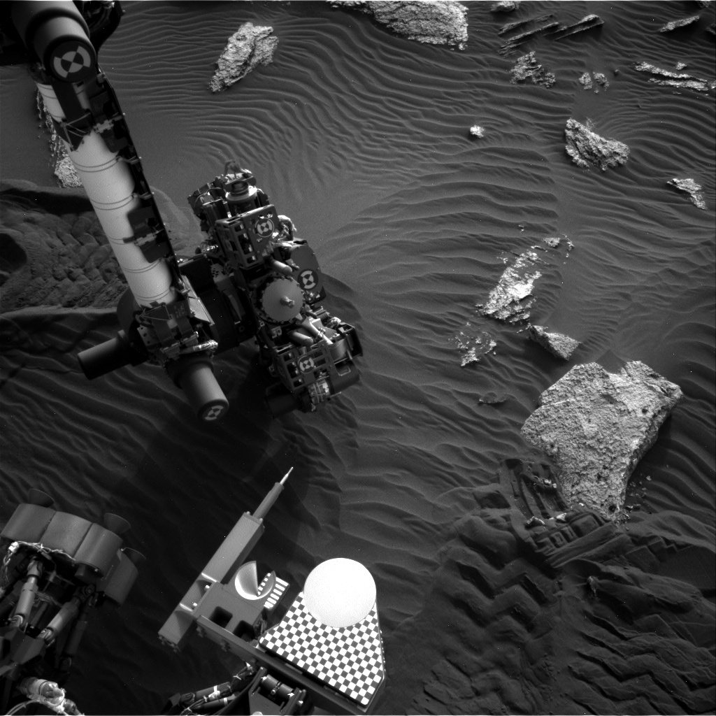 Nasa's Mars rover Curiosity acquired this image using its Right Navigation Camera on Sol 1637, at drive 2232, site number 61