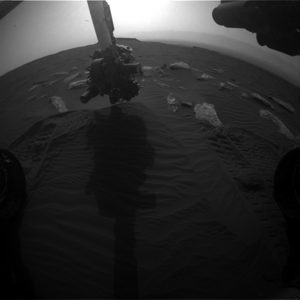 Nasa's Mars rover Curiosity acquired this image using its Front Hazard Avoidance Camera (Front Hazcam) on Sol 1638, at drive 2232, site number 61