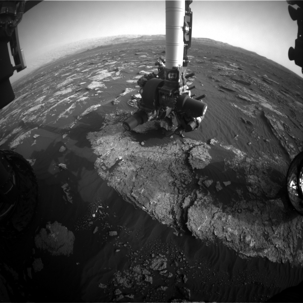 NASA's Mars rover Curiosity acquired this image using its Front Hazard Avoidance Cameras (Front Hazcams) on Sol 1640