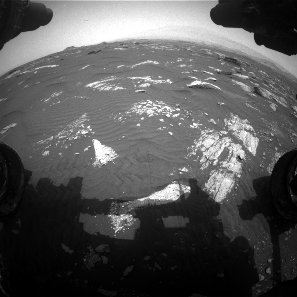 Nasa's Mars rover Curiosity acquired this image using its Front Hazard Avoidance Camera (Front Hazcam) on Sol 1642, at drive 2740, site number 61