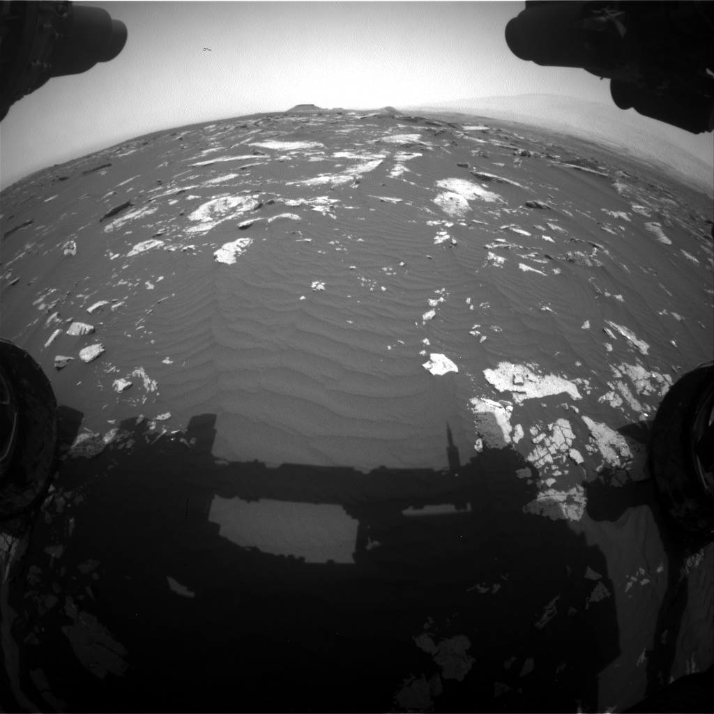 Nasa's Mars rover Curiosity acquired this image using its Front Hazard Avoidance Camera (Front Hazcam) on Sol 1643, at drive 3076, site number 61