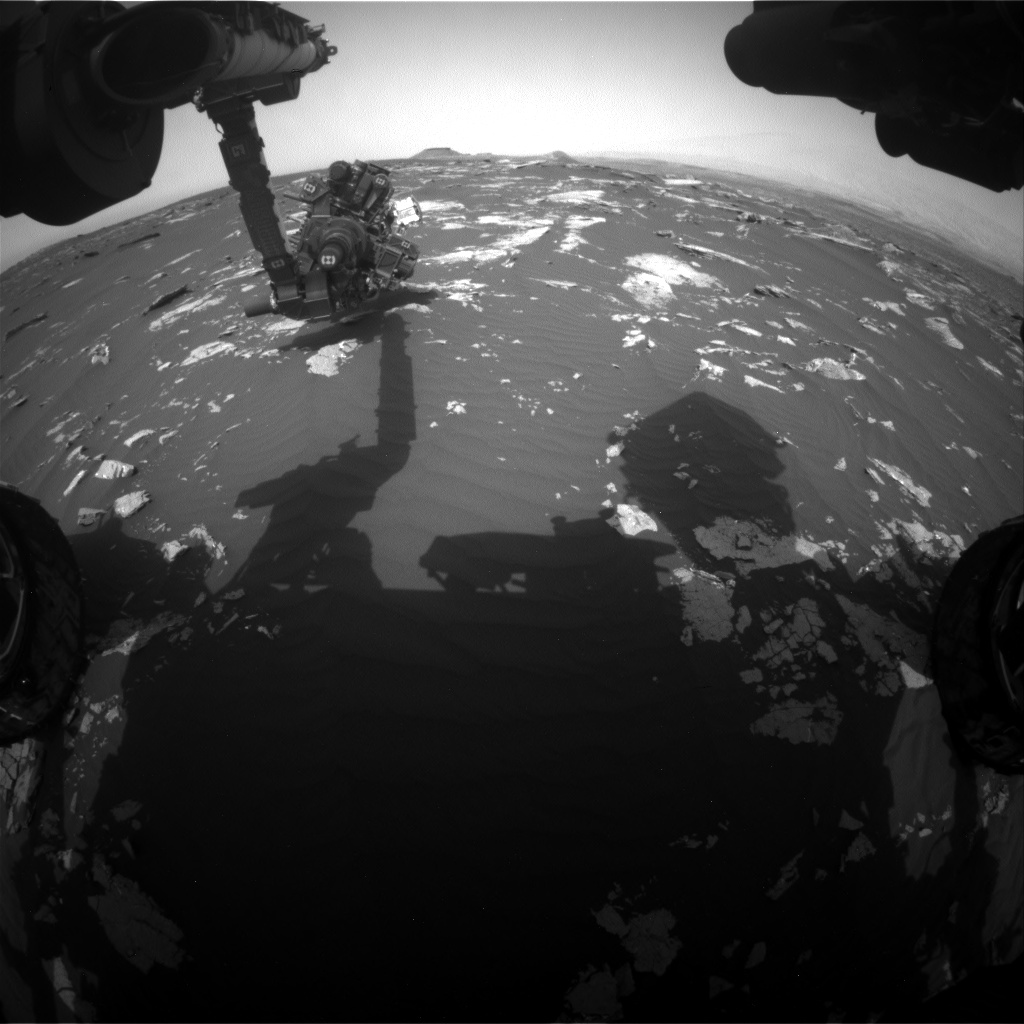 Nasa's Mars rover Curiosity acquired this image using its Front Hazard Avoidance Camera (Front Hazcam) on Sol 1644, at drive 3076, site number 61