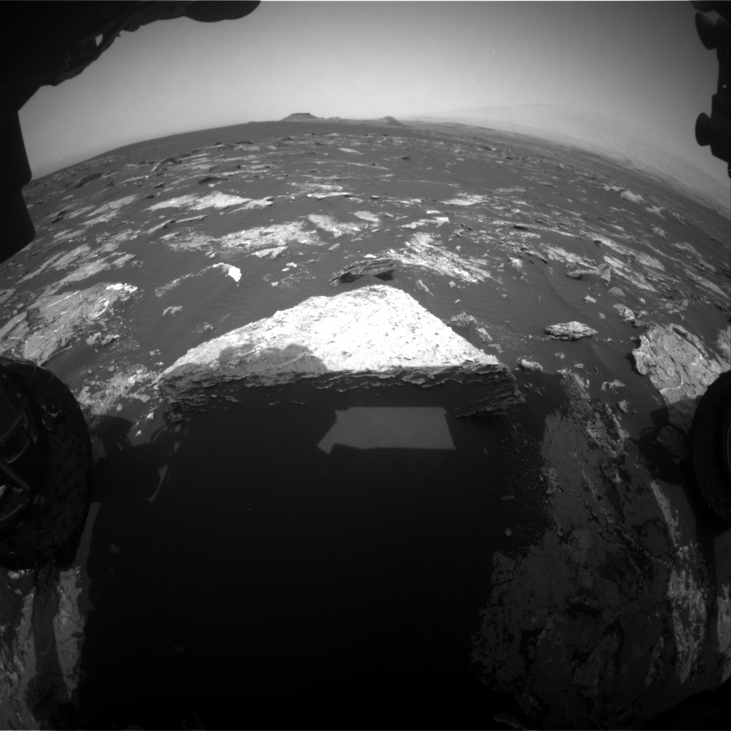 NASA's Mars rover Curiosity acquired this image using its Front Hazard Avoidance Cameras (Front Hazcams) on Sol 1645