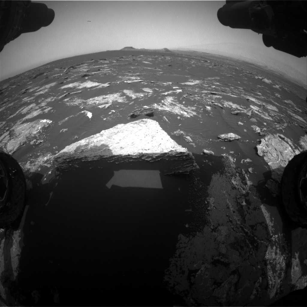 Nasa's Mars rover Curiosity acquired this image using its Front Hazard Avoidance Camera (Front Hazcam) on Sol 1645, at drive 3226, site number 61