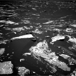 Nasa's Mars rover Curiosity acquired this image using its Left Navigation Camera on Sol 1645, at drive 3208, site number 61