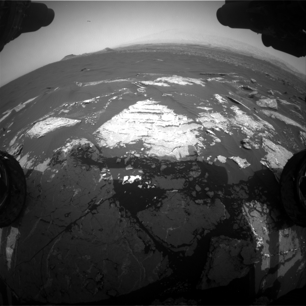 Nasa's Mars rover Curiosity acquired this image using its Front Hazard Avoidance Camera (Front Hazcam) on Sol 1646, at drive 0, site number 62
