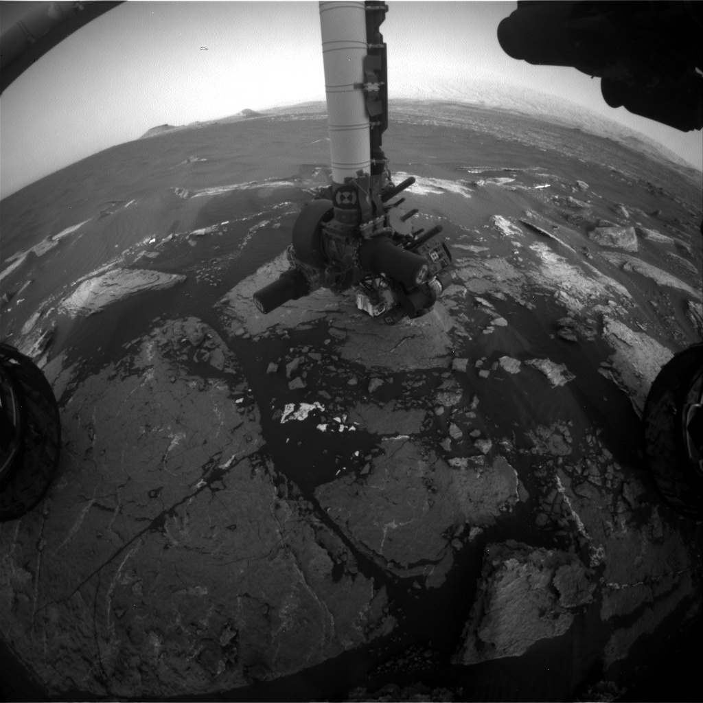 Nasa's Mars rover Curiosity acquired this image using its Front Hazard Avoidance Camera (Front Hazcam) on Sol 1647, at drive 0, site number 62