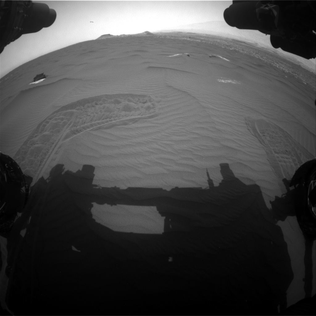 Nasa's Mars rover Curiosity acquired this image using its Front Hazard Avoidance Camera (Front Hazcam) on Sol 1649, at drive 108, site number 62