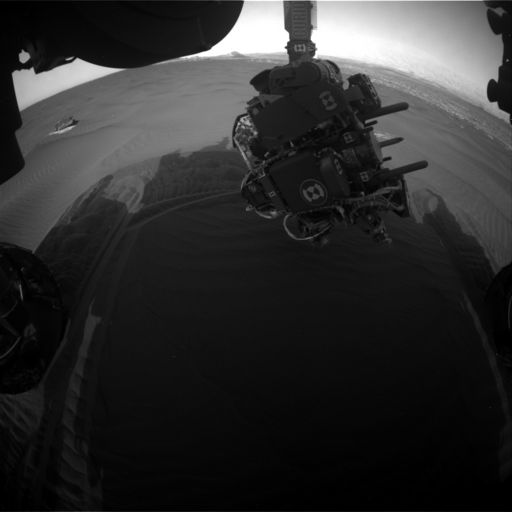 NASA's Mars rover Curiosity acquired this image using its Front Hazard Avoidance Cameras (Front Hazcams) on Sol 1650