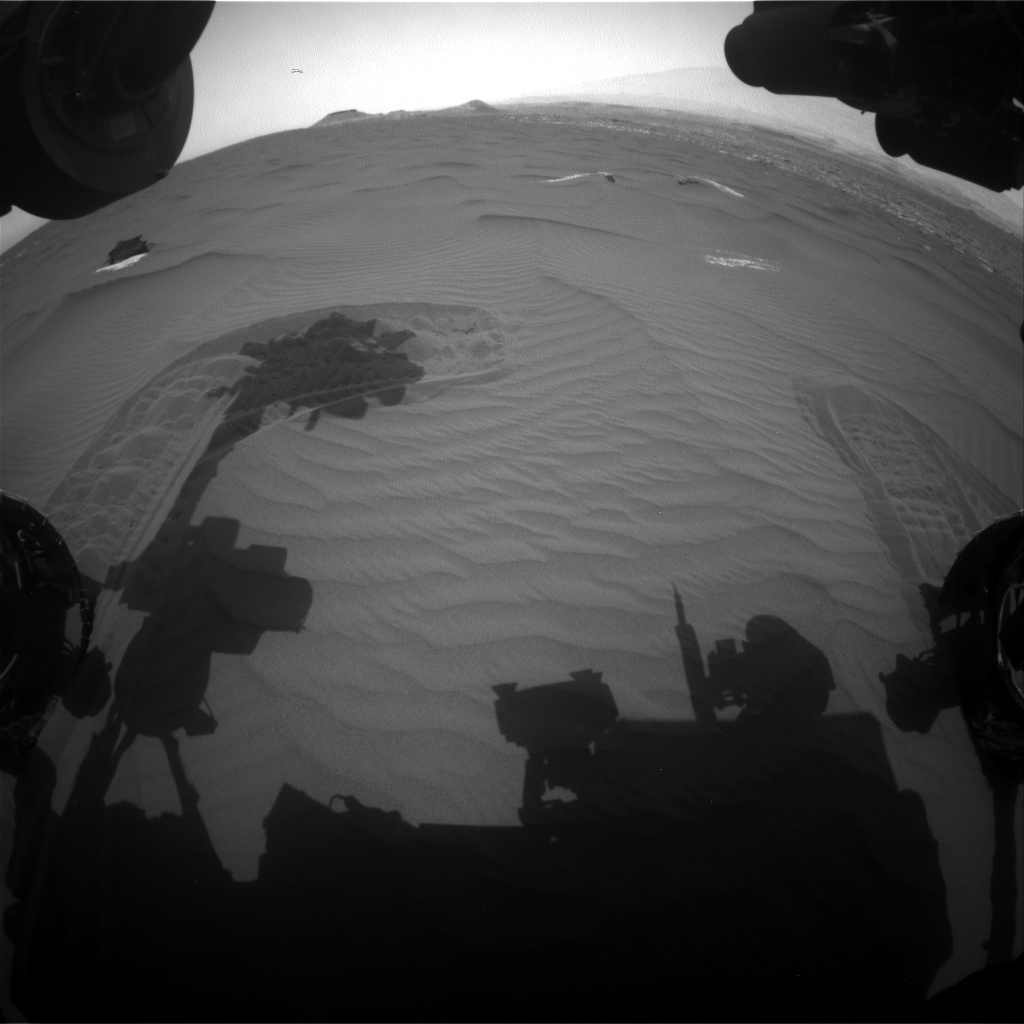 Nasa's Mars rover Curiosity acquired this image using its Front Hazard Avoidance Camera (Front Hazcam) on Sol 1650, at drive 108, site number 62