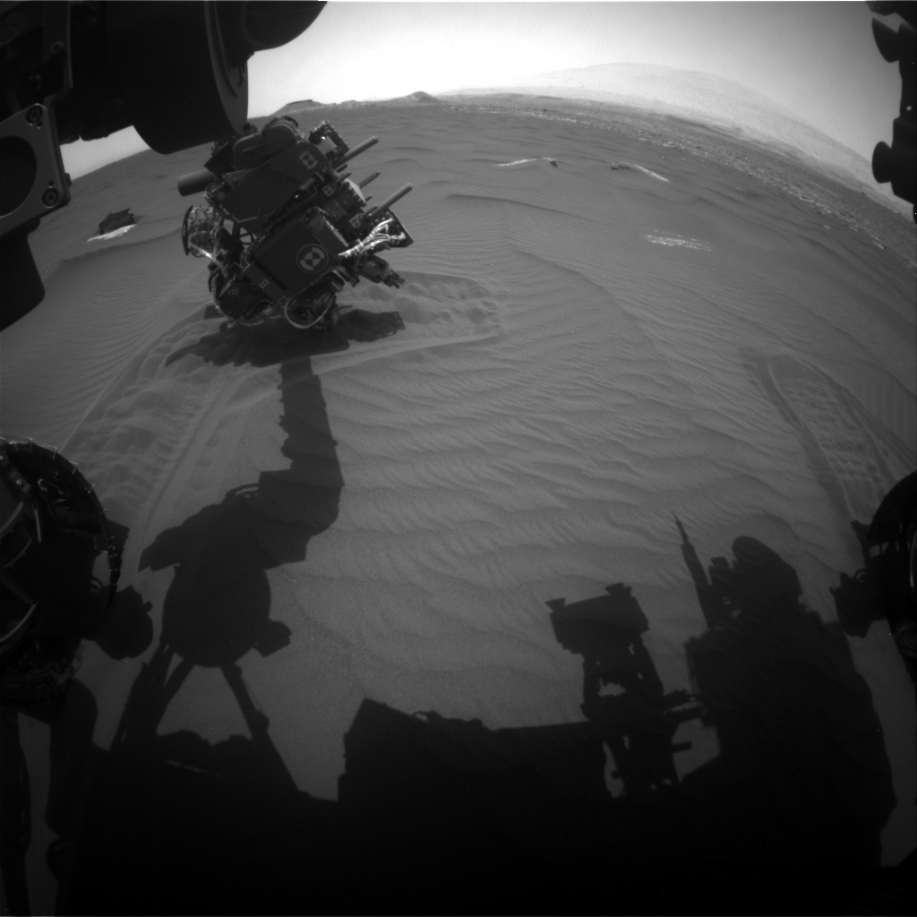 NASA's Mars rover Curiosity acquired this image using its Front Hazard Avoidance Cameras (Front Hazcams) on Sol 1651