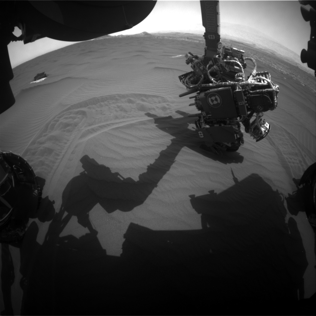 Nasa's Mars rover Curiosity acquired this image using its Front Hazard Avoidance Camera (Front Hazcam) on Sol 1651, at drive 108, site number 62