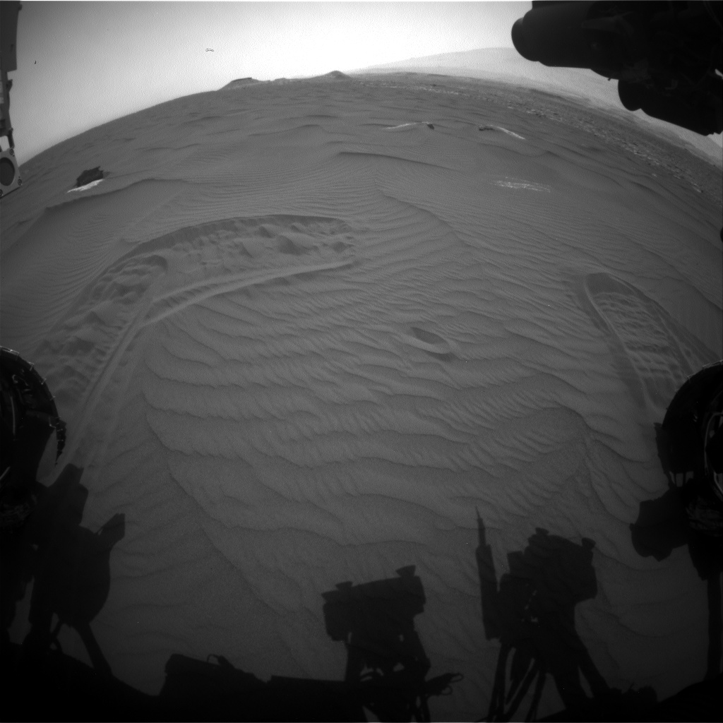 Nasa's Mars rover Curiosity acquired this image using its Front Hazard Avoidance Camera (Front Hazcam) on Sol 1652, at drive 108, site number 62
