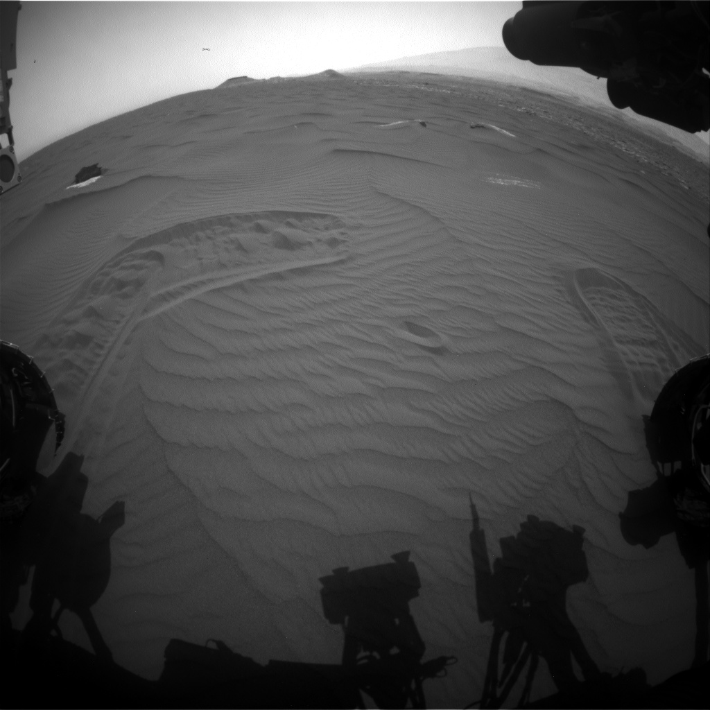 Nasa's Mars rover Curiosity acquired this image using its Front Hazard Avoidance Camera (Front Hazcam) on Sol 1653, at drive 108, site number 62