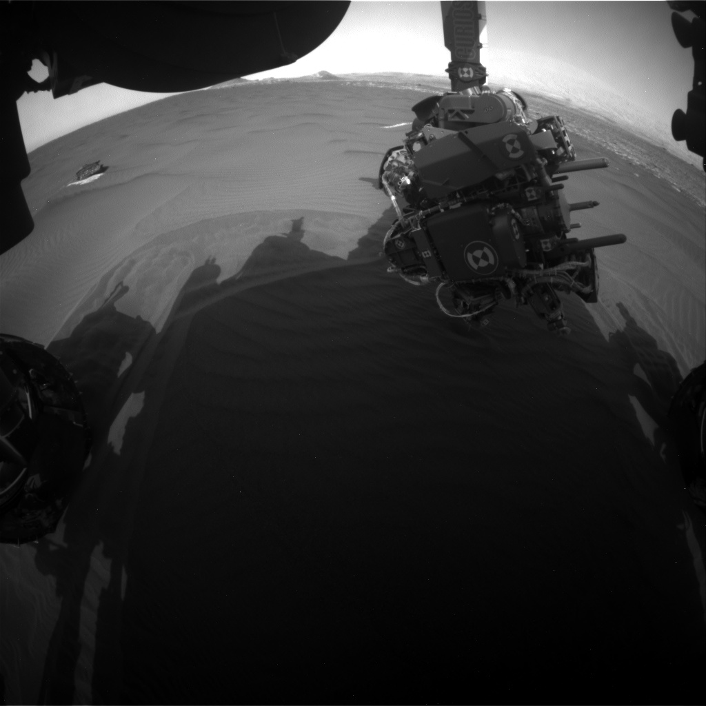 Nasa's Mars rover Curiosity acquired this image using its Front Hazard Avoidance Camera (Front Hazcam) on Sol 1657, at drive 108, site number 62