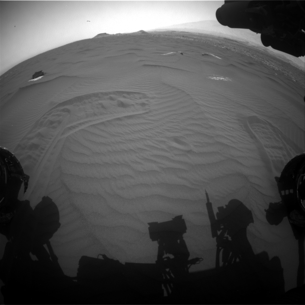 Nasa's Mars rover Curiosity acquired this image using its Front Hazard Avoidance Camera (Front Hazcam) on Sol 1658, at drive 108, site number 62