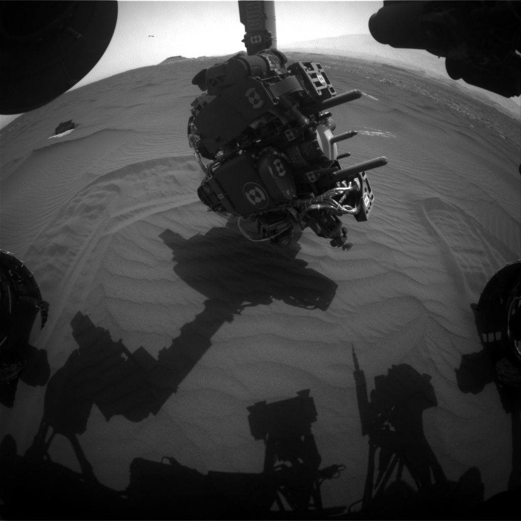 Nasa's Mars rover Curiosity acquired this image using its Front Hazard Avoidance Camera (Front Hazcam) on Sol 1659, at drive 108, site number 62