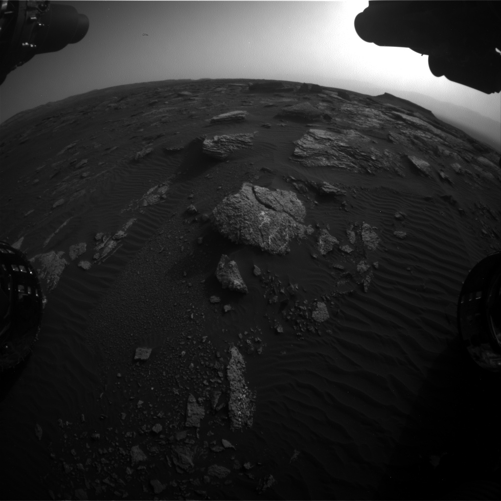 Nasa's Mars rover Curiosity acquired this image using its Front Hazard Avoidance Camera (Front Hazcam) on Sol 1659, at drive 444, site number 62