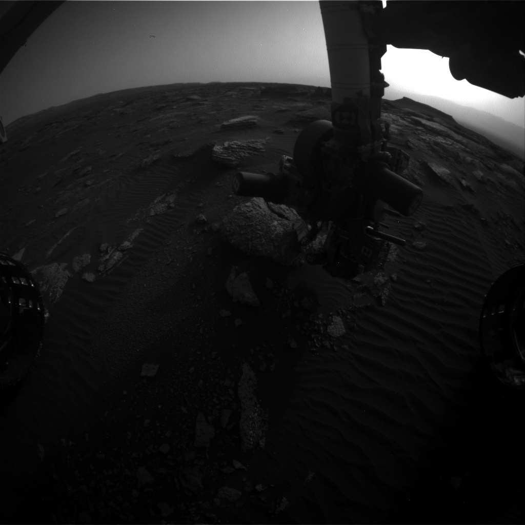 Nasa's Mars rover Curiosity acquired this image using its Front Hazard Avoidance Camera (Front Hazcam) on Sol 1661, at drive 444, site number 62
