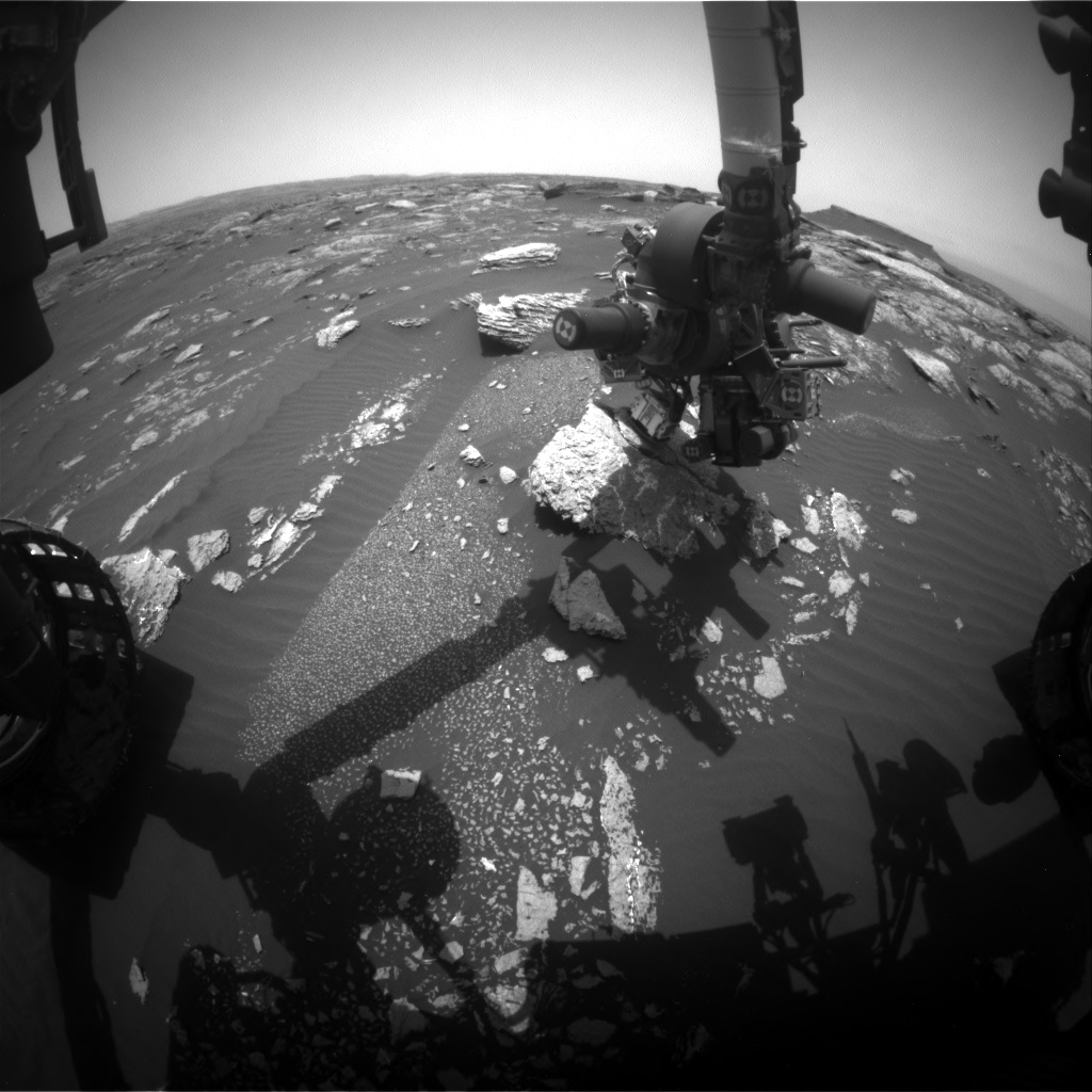 Nasa's Mars rover Curiosity acquired this image using its Front Hazard Avoidance Camera (Front Hazcam) on Sol 1662, at drive 444, site number 62