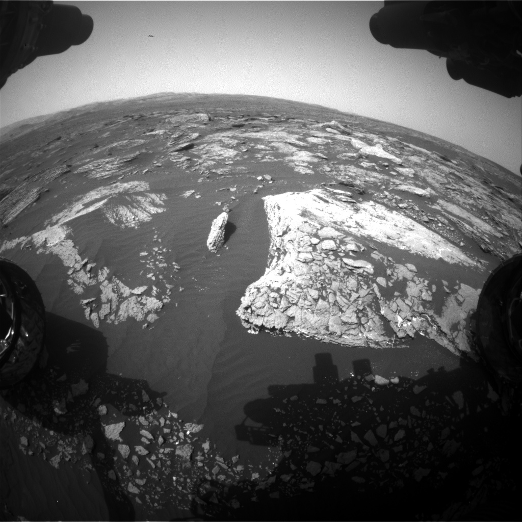 Nasa's Mars rover Curiosity acquired this image using its Front Hazard Avoidance Camera (Front Hazcam) on Sol 1663, at drive 660, site number 62