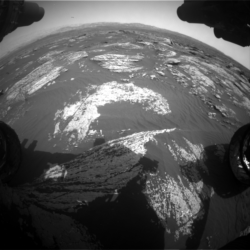 Nasa's Mars rover Curiosity acquired this image using its Front Hazard Avoidance Camera (Front Hazcam) on Sol 1664, at drive 690, site number 62