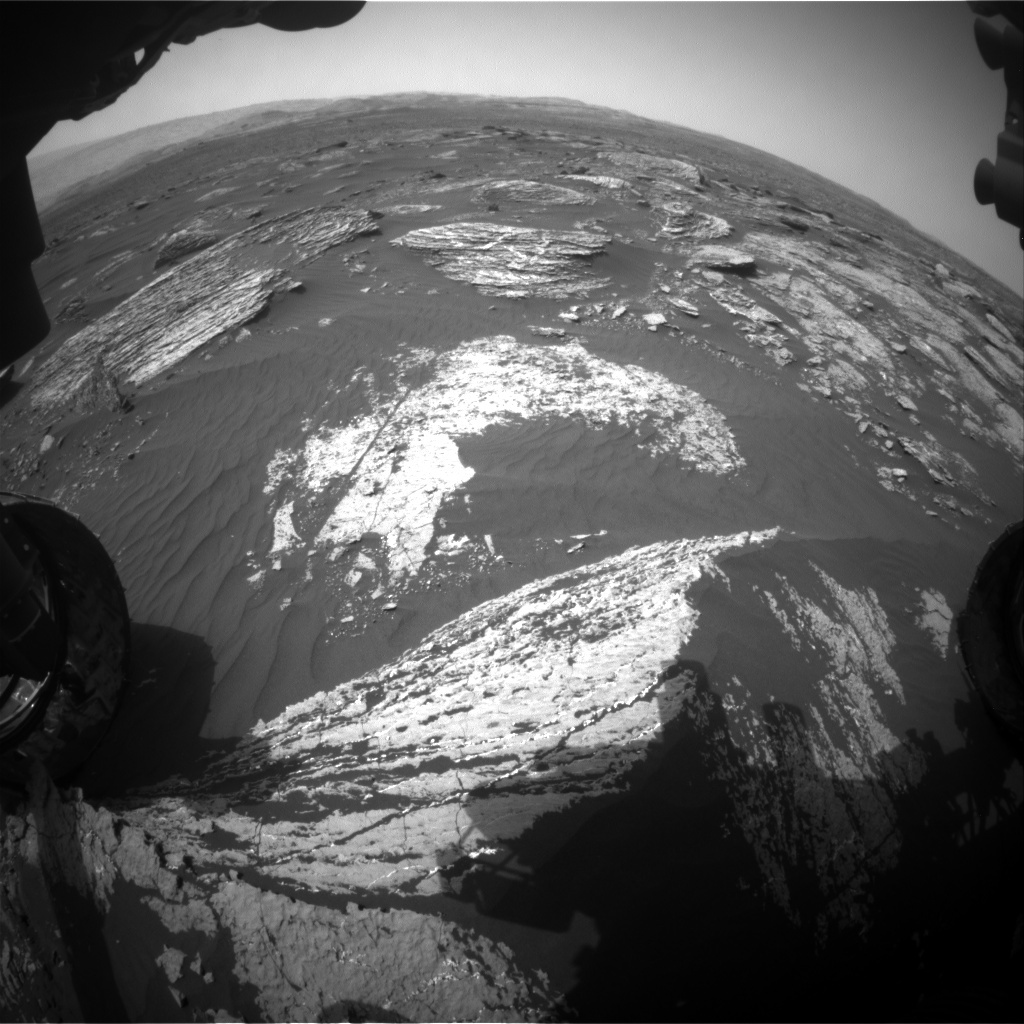 NASA's Mars rover Curiosity acquired this image using its Front Hazard Avoidance Cameras (Front Hazcams) on Sol 1665