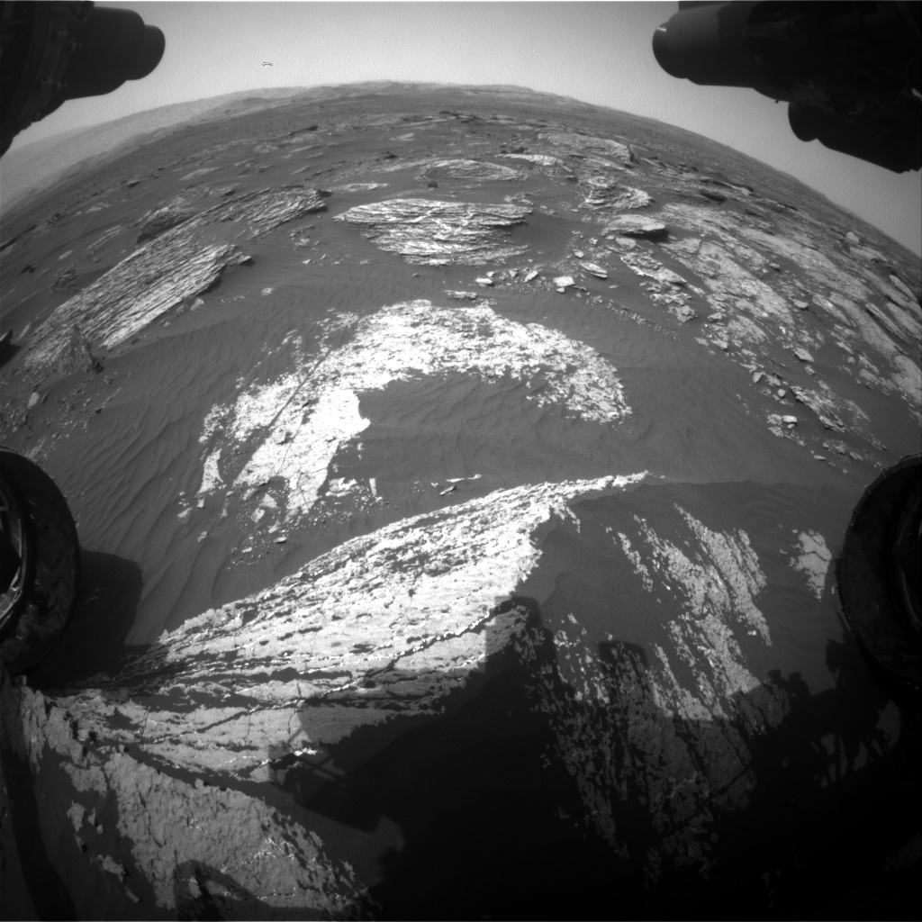 Nasa's Mars rover Curiosity acquired this image using its Front Hazard Avoidance Camera (Front Hazcam) on Sol 1665, at drive 690, site number 62