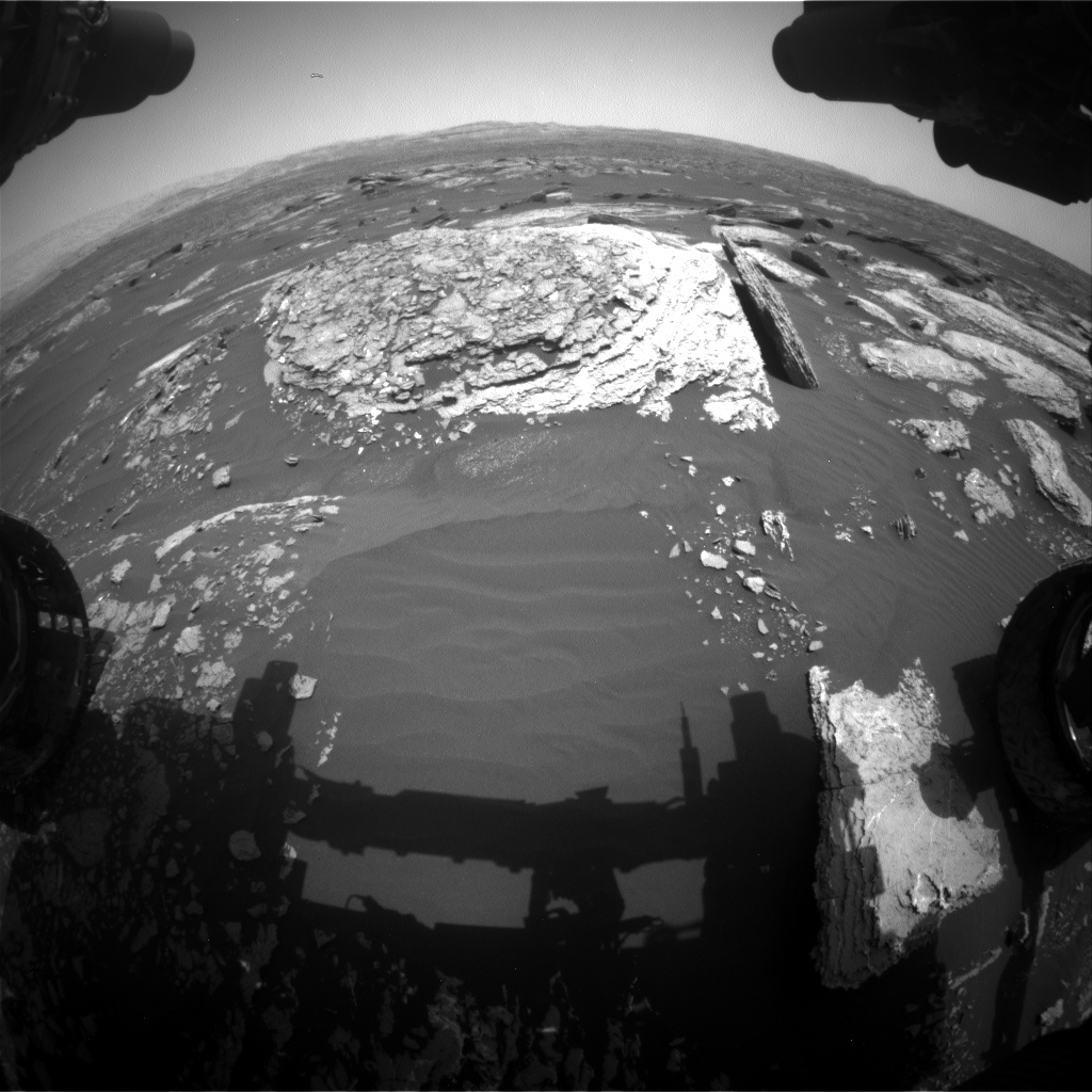 Nasa's Mars rover Curiosity acquired this image using its Front Hazard Avoidance Camera (Front Hazcam) on Sol 1666, at drive 786, site number 62