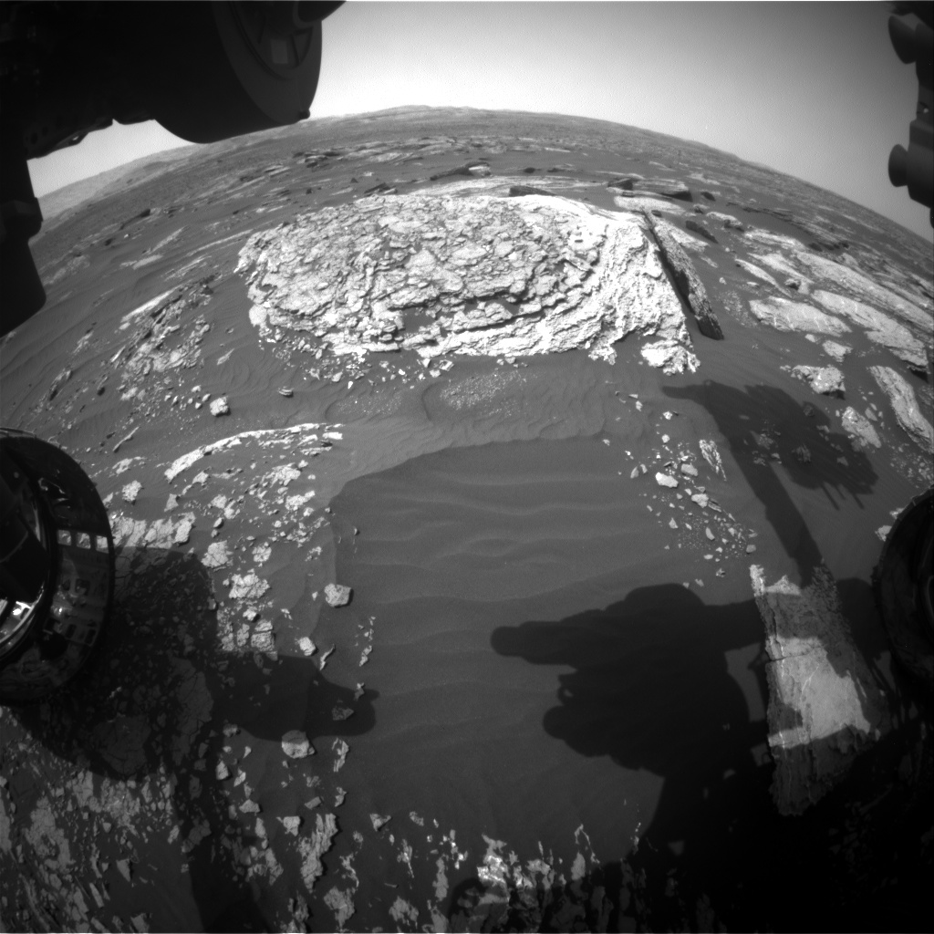 Nasa's Mars rover Curiosity acquired this image using its Front Hazard Avoidance Camera (Front Hazcam) on Sol 1667, at drive 786, site number 62