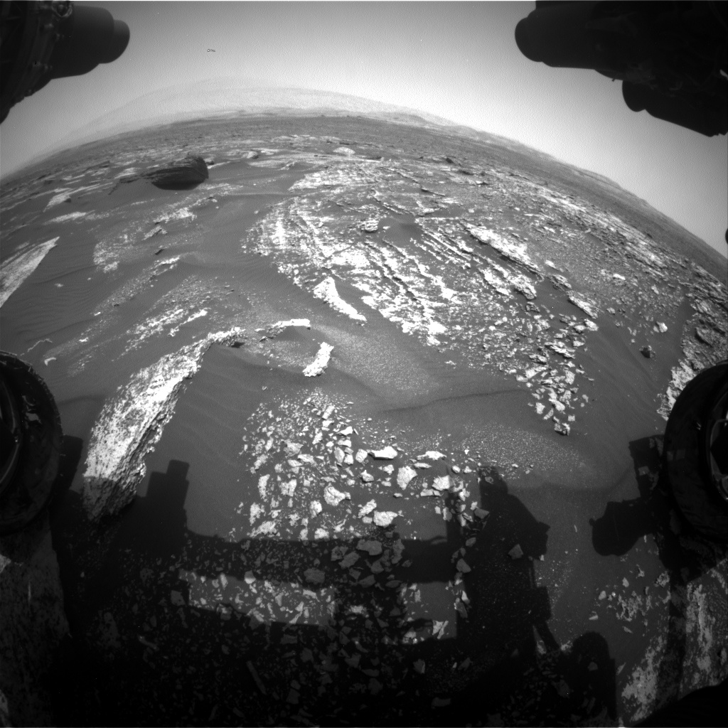 Nasa's Mars rover Curiosity acquired this image using its Front Hazard Avoidance Camera (Front Hazcam) on Sol 1669, at drive 1080, site number 62