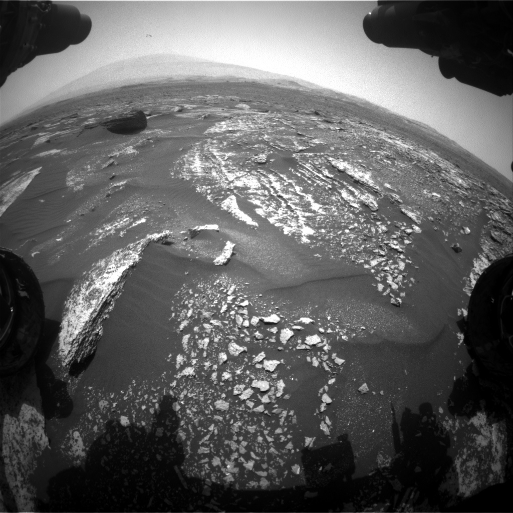 Nasa's Mars rover Curiosity acquired this image using its Front Hazard Avoidance Camera (Front Hazcam) on Sol 1670, at drive 1080, site number 62