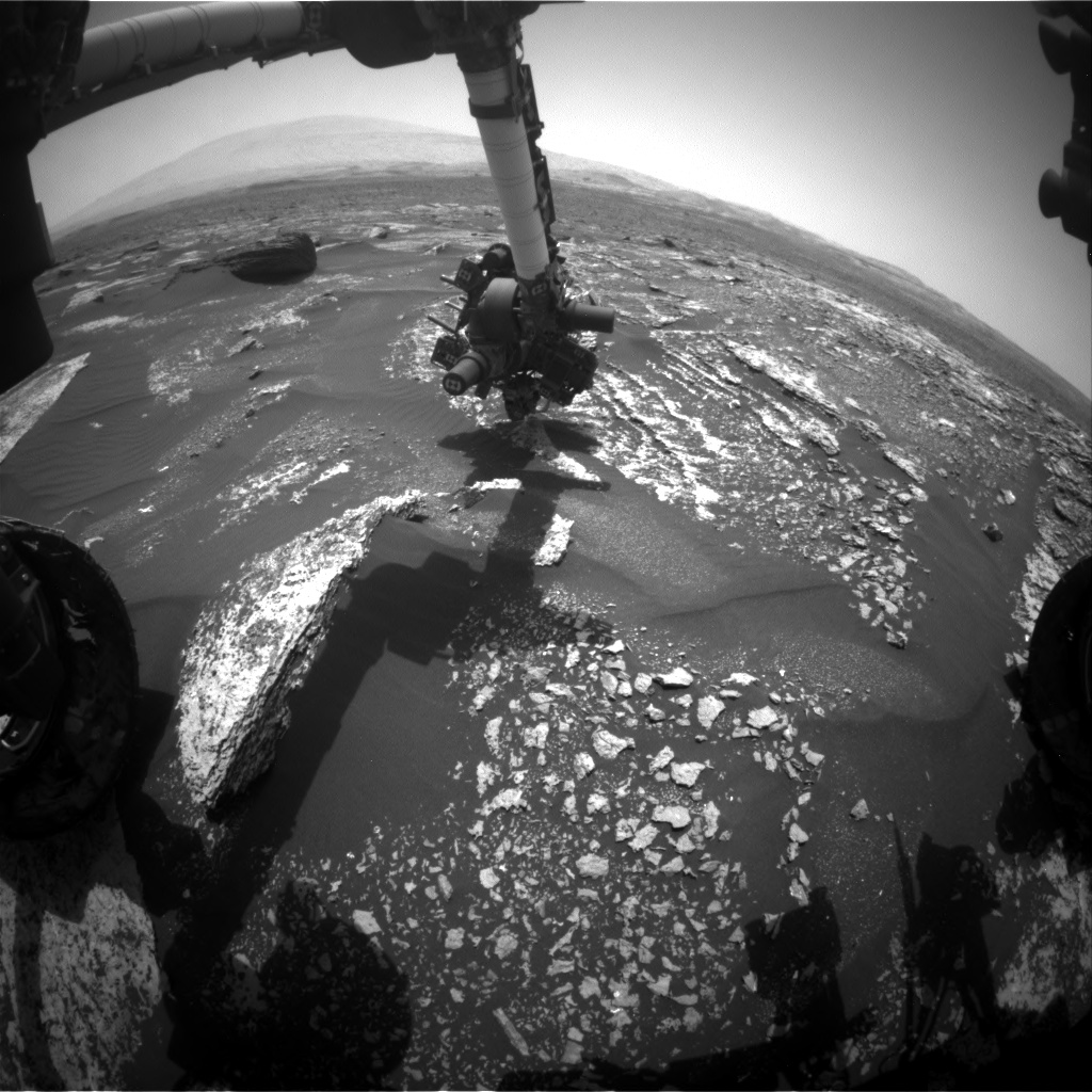 Nasa's Mars rover Curiosity acquired this image using its Front Hazard Avoidance Camera (Front Hazcam) on Sol 1671, at drive 1080, site number 62