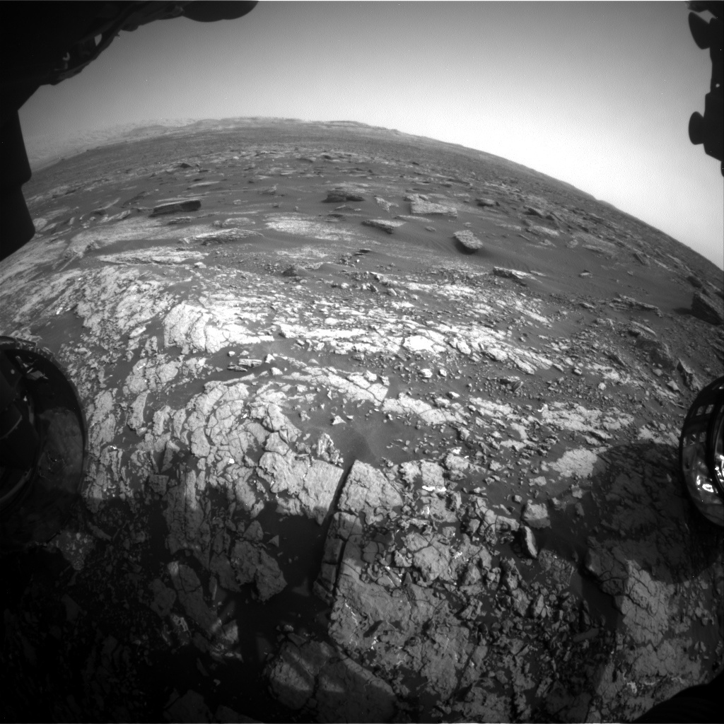 NASA's Mars rover Curiosity acquired this image using its Front Hazard Avoidance Cameras (Front Hazcams) on Sol 1671