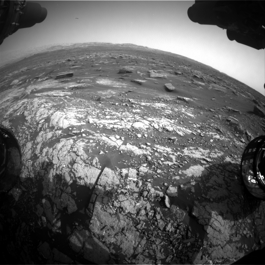 Nasa's Mars rover Curiosity acquired this image using its Front Hazard Avoidance Camera (Front Hazcam) on Sol 1671, at drive 1140, site number 62