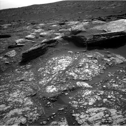 NASA's Mars rover Curiosity acquired this image using its Left Navigation Camera (Navcams) on Sol 1671