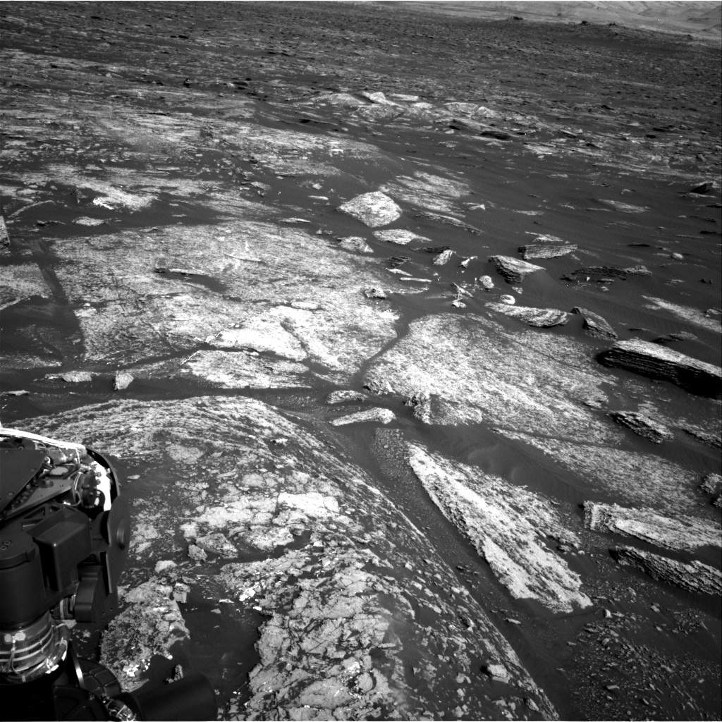 NASA's Mars rover Curiosity acquired this image using its Right Navigation Cameras (Navcams) on Sol 1671