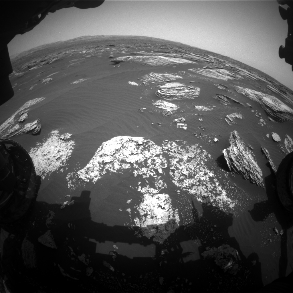 Nasa's Mars rover Curiosity acquired this image using its Front Hazard Avoidance Camera (Front Hazcam) on Sol 1672, at drive 1314, site number 62