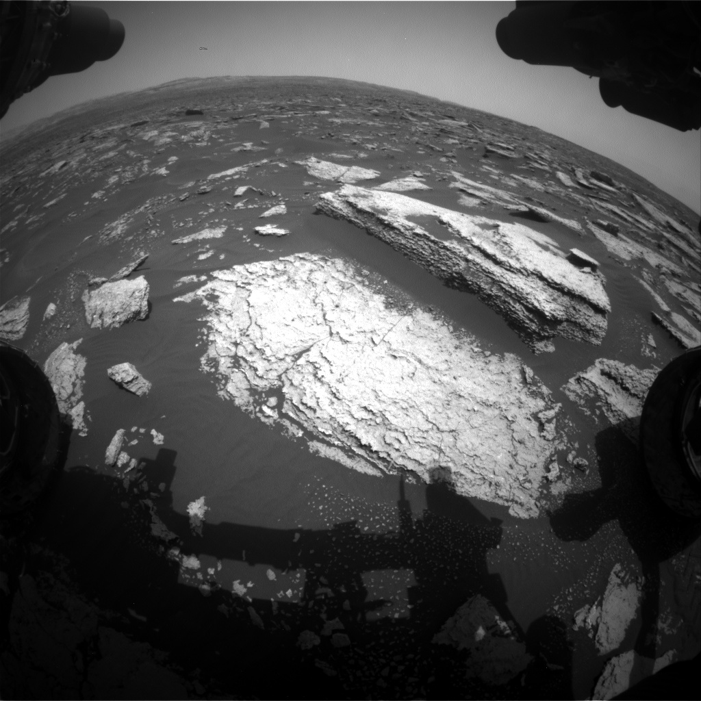 Nasa's Mars rover Curiosity acquired this image using its Front Hazard Avoidance Camera (Front Hazcam) on Sol 1673, at drive 1386, site number 62