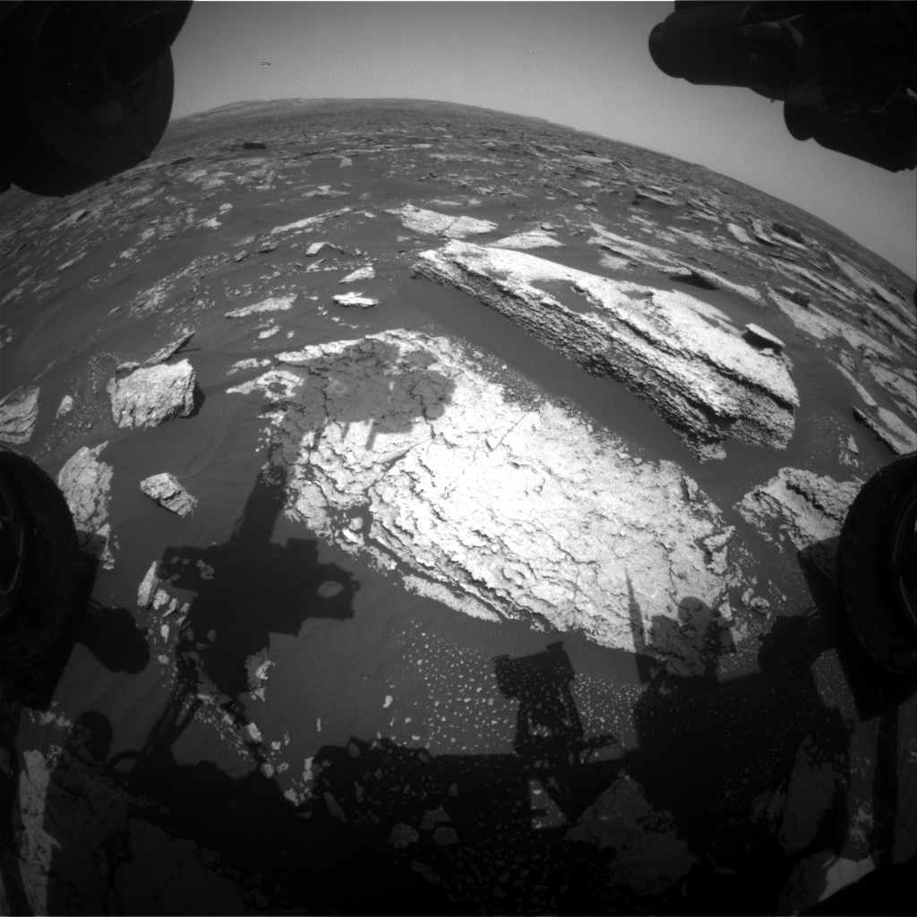 Nasa's Mars rover Curiosity acquired this image using its Front Hazard Avoidance Camera (Front Hazcam) on Sol 1674, at drive 1386, site number 62