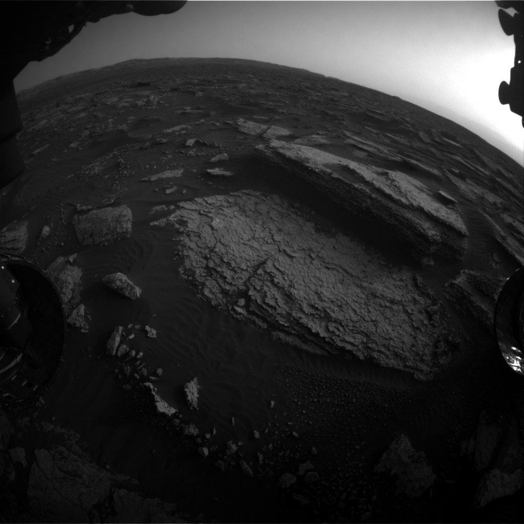 Nasa's Mars rover Curiosity acquired this image using its Front Hazard Avoidance Camera (Front Hazcam) on Sol 1675, at drive 1386, site number 62