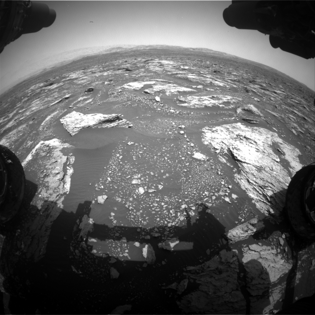Nasa's Mars rover Curiosity acquired this image using its Front Hazard Avoidance Camera (Front Hazcam) on Sol 1676, at drive 1530, site number 62