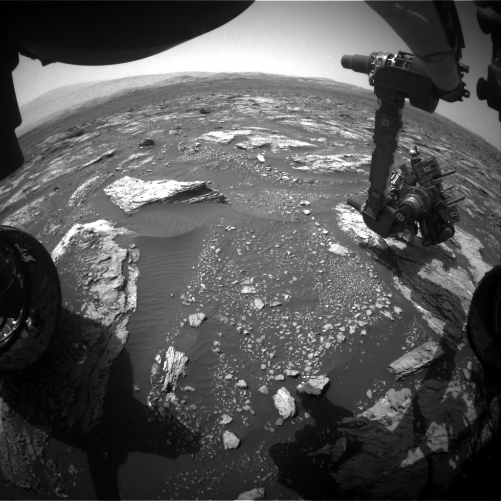 Nasa's Mars rover Curiosity acquired this image using its Front Hazard Avoidance Camera (Front Hazcam) on Sol 1677, at drive 1530, site number 62