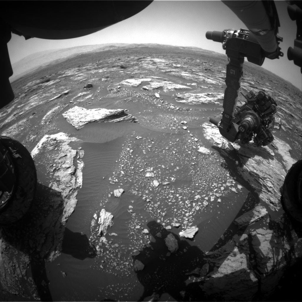NASA's Mars rover Curiosity acquired this image using its Front Hazard Avoidance Cameras (Front Hazcams) on Sol 1677
