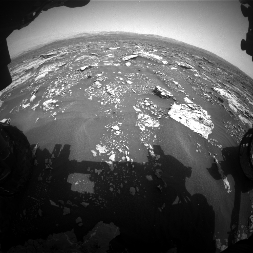 Nasa's Mars rover Curiosity acquired this image using its Front Hazard Avoidance Camera (Front Hazcam) on Sol 1677, at drive 1776, site number 62